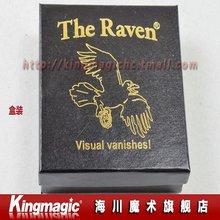 Free shipping Wholesale The Raven Magic Tricks Great Visual Vanishing Coin Street Magic Magic Toys Magic Props(China (Mainland))
