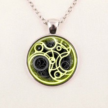Doctor Who necklace New Round Glass Necklace Doctor Who Time Lord Seal Pendant Time Lord Gallifreyan Glass Cabochon Necklace