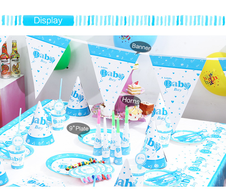 Baby shower 1st 2nd FIRST BIRTHDAY party decoration kits baby blue it ...