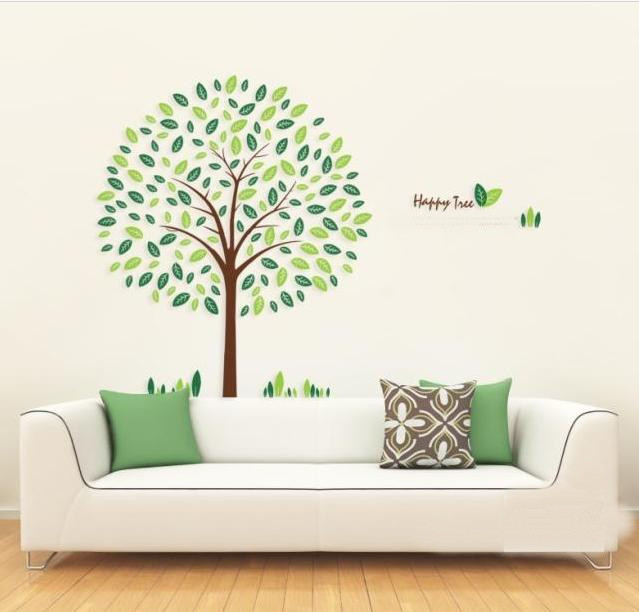 Beautiful wall stickers home decoration wall background for Diy tree wall mural