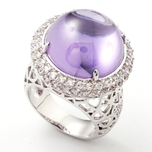 Yunkingdom purple crystal amethyst rings for women gold plated charms rings female Holiday birthday gifts(China (Mainland))