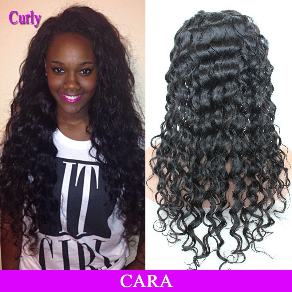 Free Shipping Brazilian Loose Wave Curly Lace Front Human
