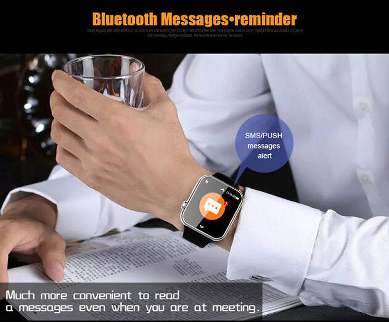 2016 New Original Smart Watch A9 Bluetooth Smartwatch For iPhone IOS Samsung Android Phone Heart Rate Monitor Smart wach phone