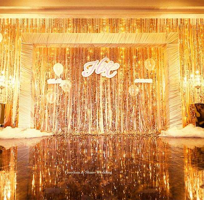 Online Get Cheap Gold Fringe Curtain Aliexpress