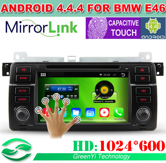 Автомобильный DVD плеер Greenyi HD 1024 * 600 Auto 4.4.4 3G/WiFi DVD BMW 3 E46 M3 GPS, Bluetooth, tv, CANBUS, DVR +
