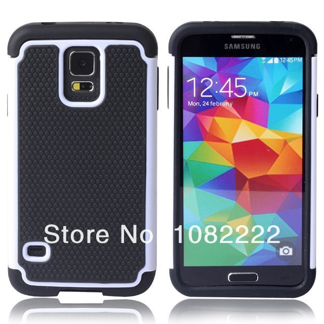 50pcs/lot Free Shipping New Football Design 3 in 1 Silicon +PC Hybrid Back Cover for Samsung Galaxy S5 I9600(China (Mainland))