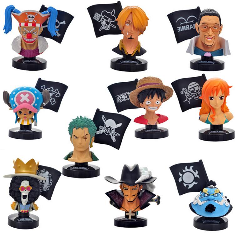One Piece Figure 1 Bust Zoro Luffy Doflamingo Brook Figures 10CM Action FigureToy Juguetespcs