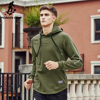 Pioneer Camp 2017 Brand clothing Sweatshirt Hoodie Hoodies men Army green Hoodie male Suit Men's Tracksuits 699049