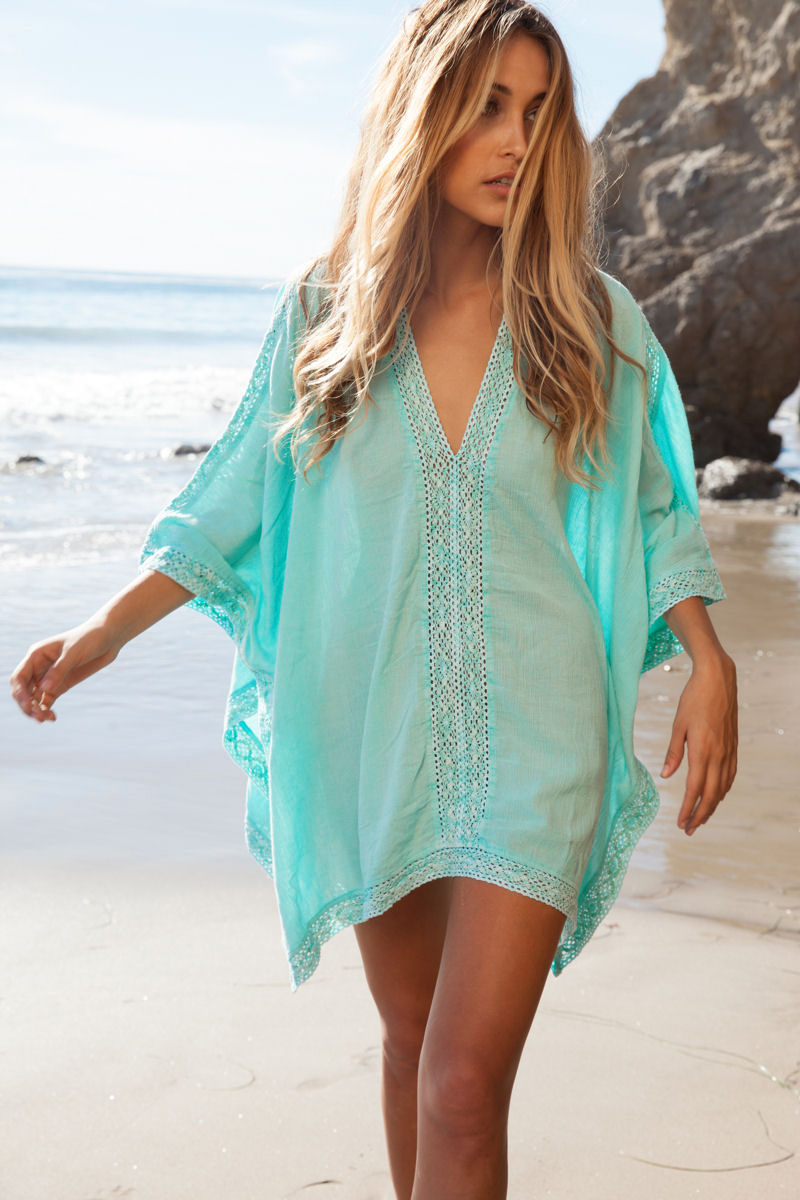 store product NEW  Fashion V neck Bikini Beach Cover Up Women Wear Bathing Suit Ups
