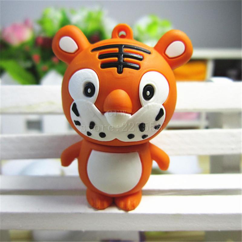U Disk pen drive animal cute tiger 8G/16G/32G/64GB usb 2.0 flash drive flash memory stick pendrive(China (Mainland))