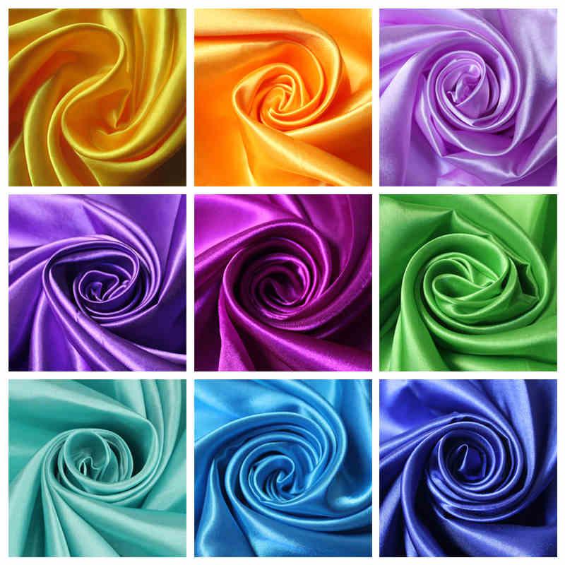 1.5m*1m Bright Solid Color Satin Fabric Satin Fabric Dress Silk Dress Five Satin Gift Box Lining Satin Silk Performance Service(China (Mainland))