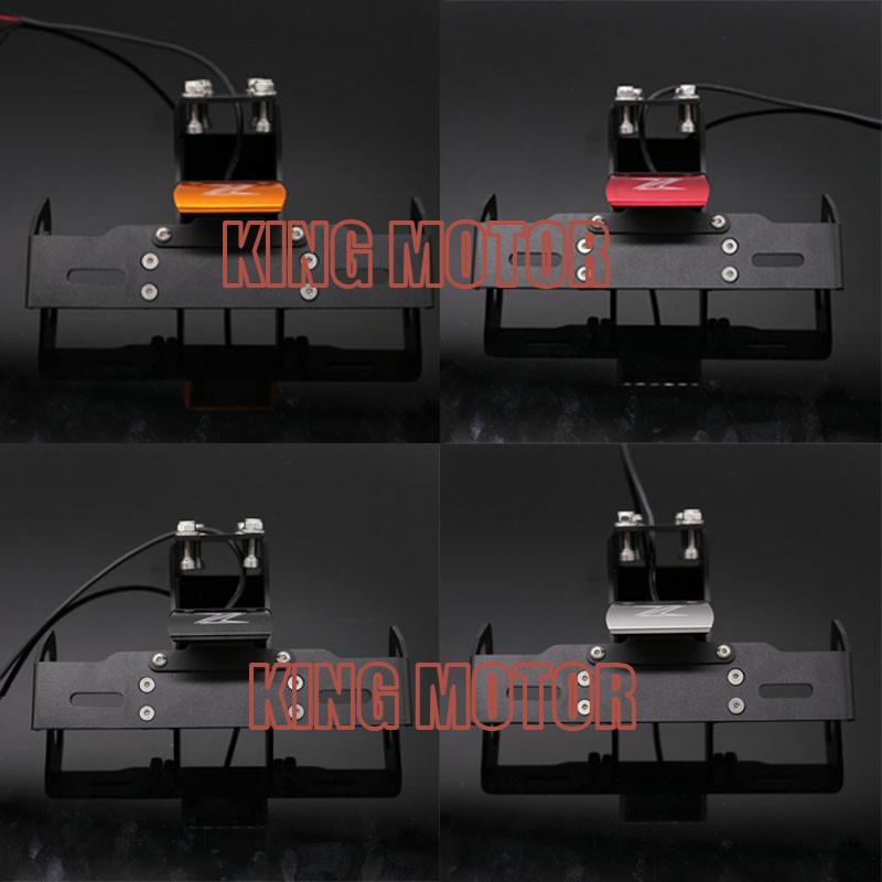 For KAWASAKI Z1000 Z1000SX NINJA 1000 Motorcycle Fender Eliminator Registration Plate Bracket License Plate LED Right  Green