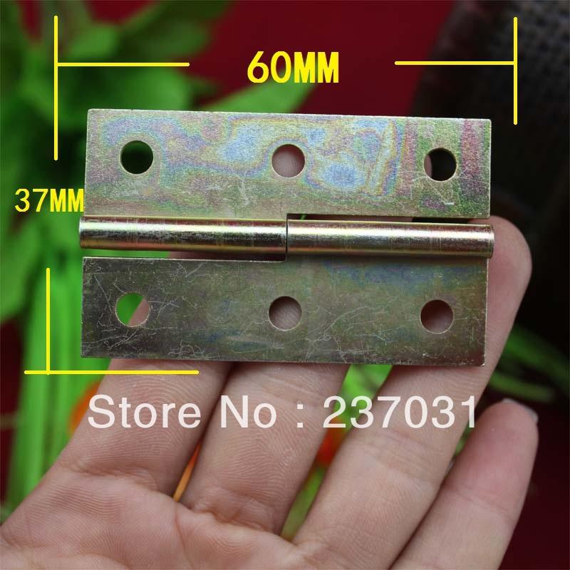 60 * 37MM color plated hinge / hinge glass / window screens cabinet hinge / metal hinge / detachable(China (Mainland))