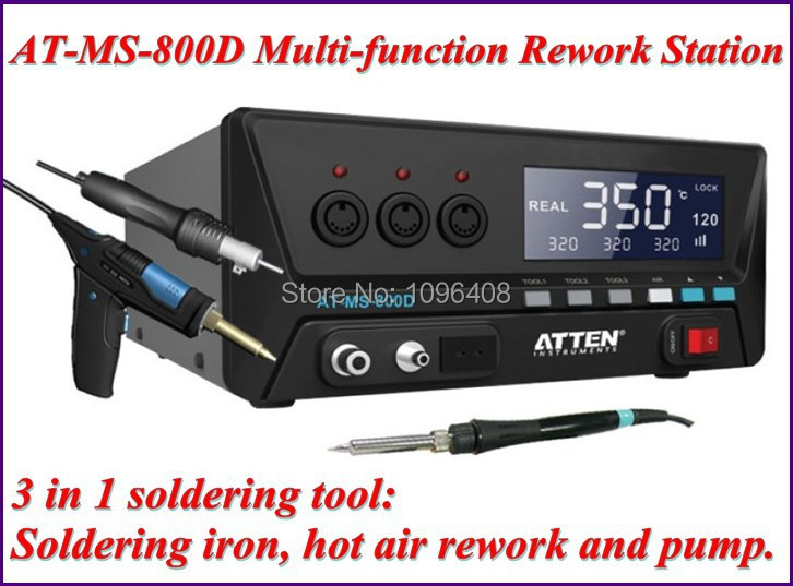 AT-MS-800D Multi-function Rework Station,3 in 1 soldering tool: soldering iron, hot air rework and pump.(China (Mainland))
