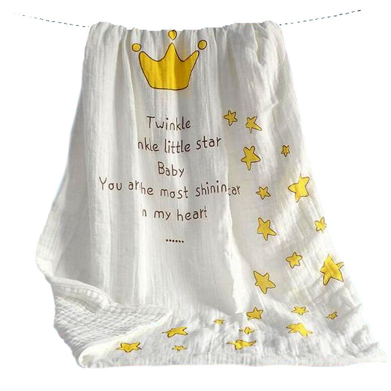 112 *112 CM modern burlap Cotton Bamboo Fiber Baby kid Muslin Swaddle multi-use blanket infant Baby Bath Towel Swaddle Blankets(China (Mainland))