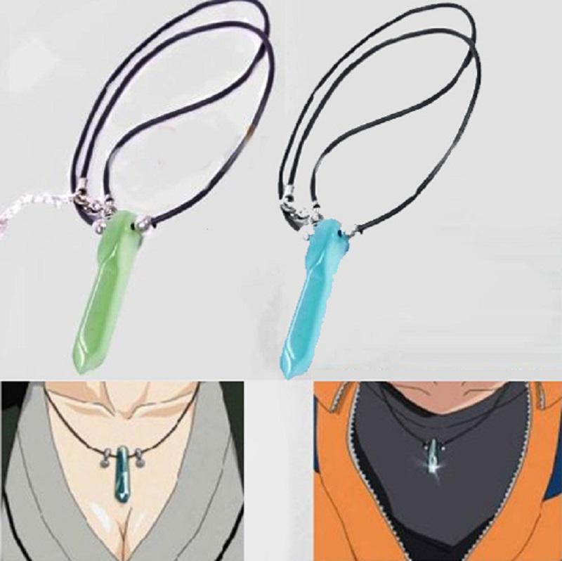 Hot Japanese Anime Naruto uzumaki naruto Jade Pendant Necklace 2 Colors 1PC Baby Gifts /Christmsa Gifts Free Shipping P(China (Mainland))