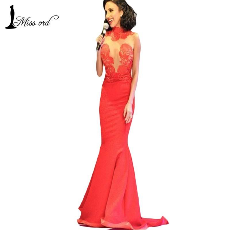 2015 Sexy Кружево stitching mopping Красный dress party Dress  FT1828