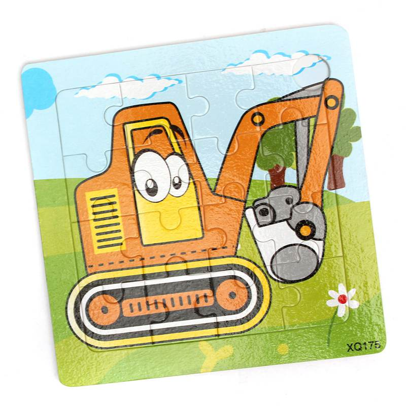 Wooden Colorful Crane Jigsaw Puzzle Funny Kids Children Baby Educational Toys Infant Developmental Puzzles(China (Mainland))