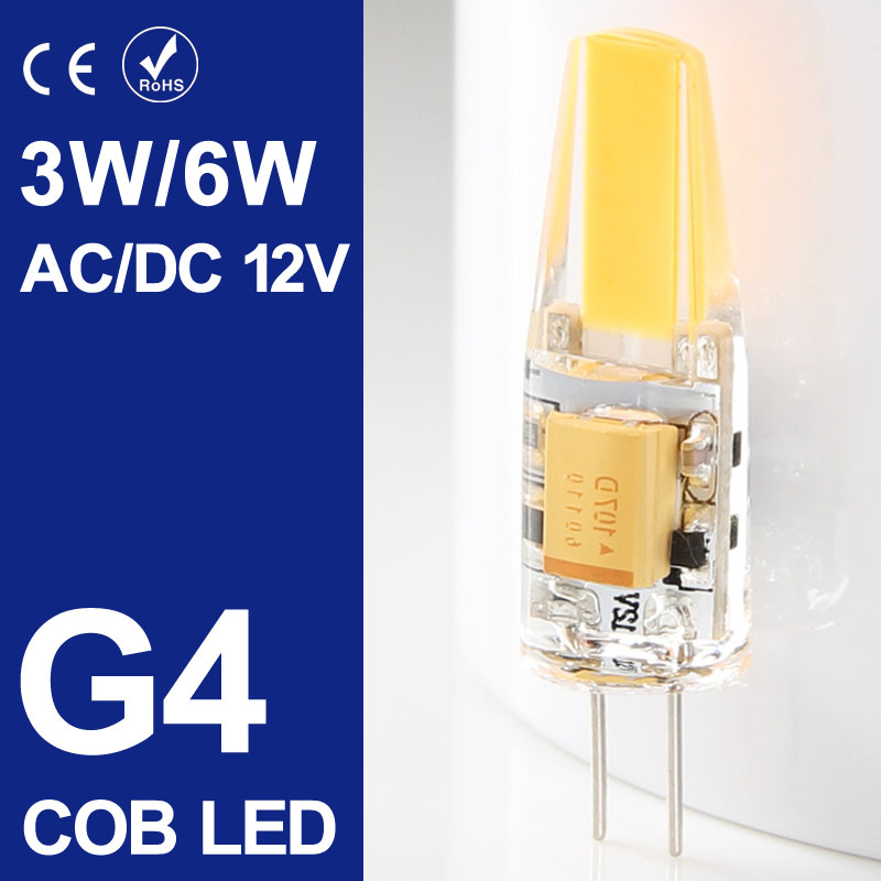 Mini G4 LED Lamp COB LED Bulb 6W AC/DC 12V LED G4 COB Light Dimmable 360 Beam Angle Chandelier Lights Replace Halogen G4 Lamps<br><br>Aliexpress