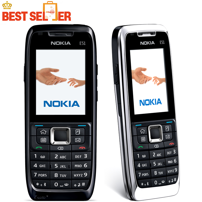 Original phone Nokia E51 Cheap phone Unlocked GSM 3G Wifi Bluetooth Camera FreeShipping(China (Mainland))