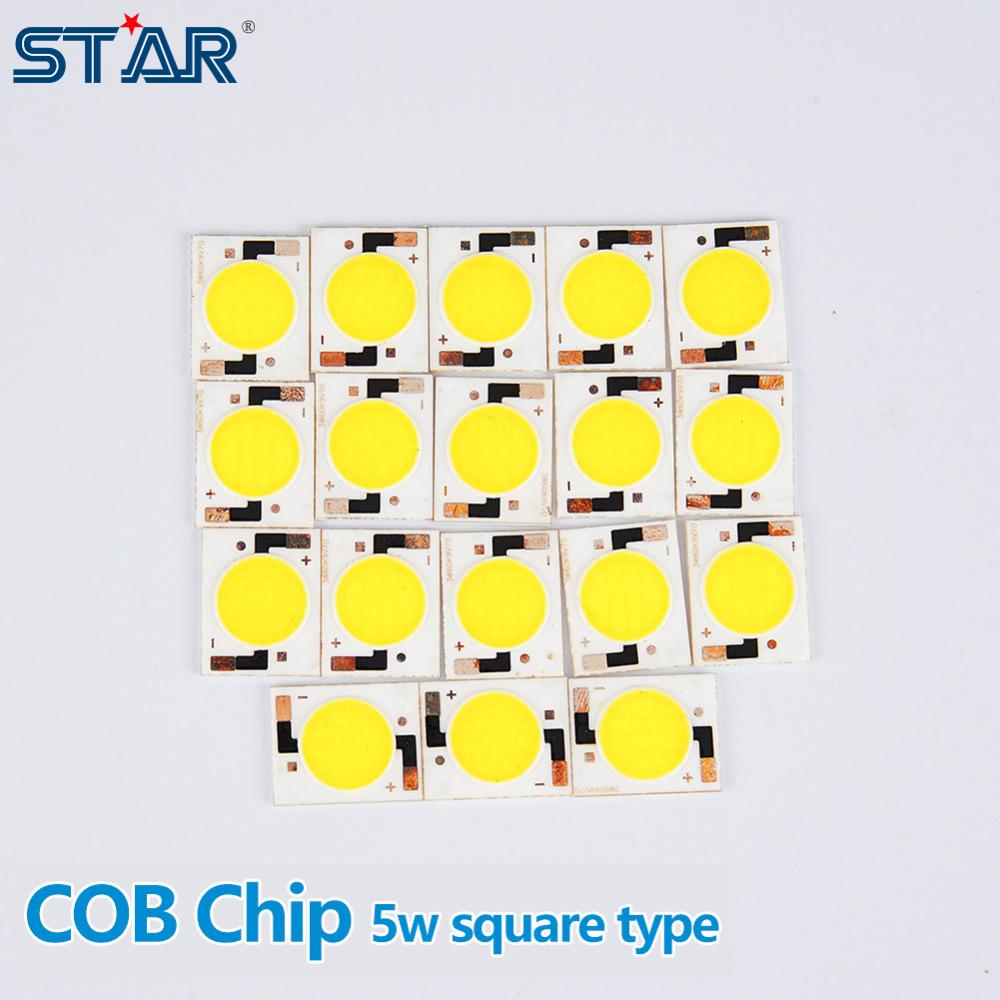5pcs/lot 5W COB surface Ceramic light source LED bulb LED Downlight LED Flood Light Spotlight Square Shape(China (Mainland))