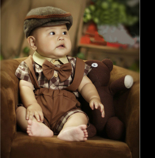 Baby Boy England Style Photography Suit Children Nobility Photograph Clothes Photo Shoot Clothes 0-12month Photography Props(China (Mainland))