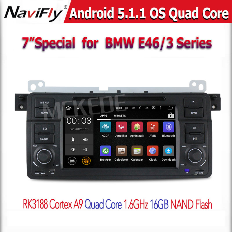 Android 5.1.1 7 Inch Car DVD Player Multimedia For E46/M3 3 Series with Canbus Wifi GPS Navigation FM Radio Quad core(China (Mainland))