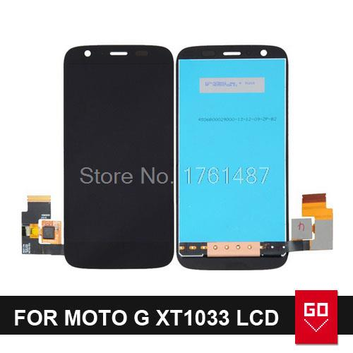 For Motorola for MOTO G XT1032 XT1033 LCD Display Touch Screen Digitizer Assembly black color Free shipping(China (Mainland))