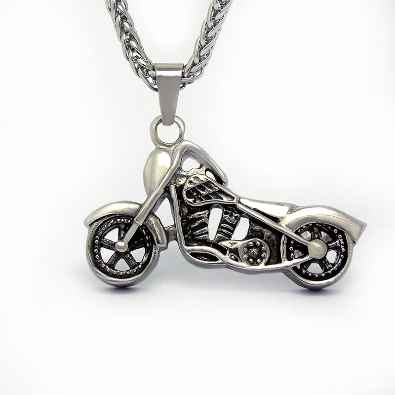 Free Chain Fashion Titanium 316L Stainless Steel Bike / Bicycle / Motorcycle Pendant Necklace(China (Mainland))