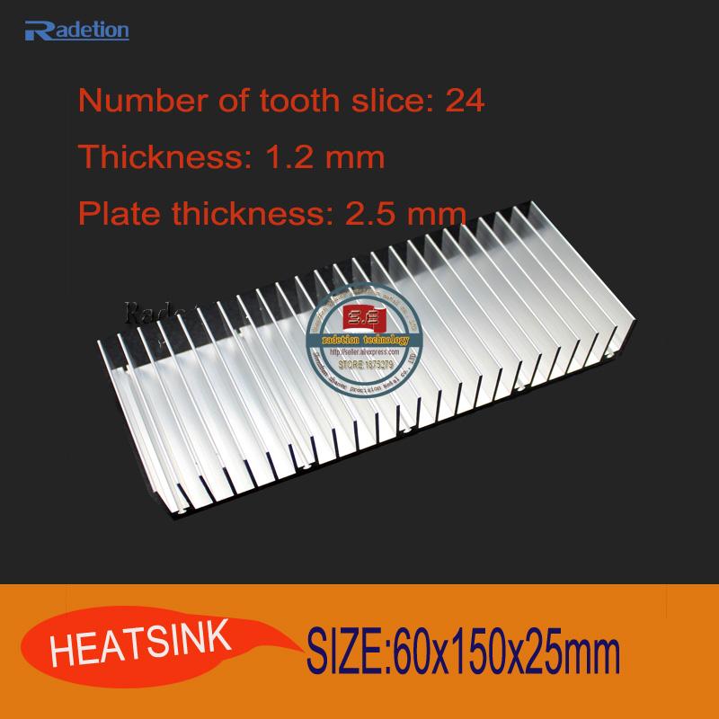 2pcs/lot 60x150x25mm Aluminum heatsink FOR Electronic heat dissipation CPU GPU VGA RAM LED IC radiator cooler (special offer)<br><br>Aliexpress