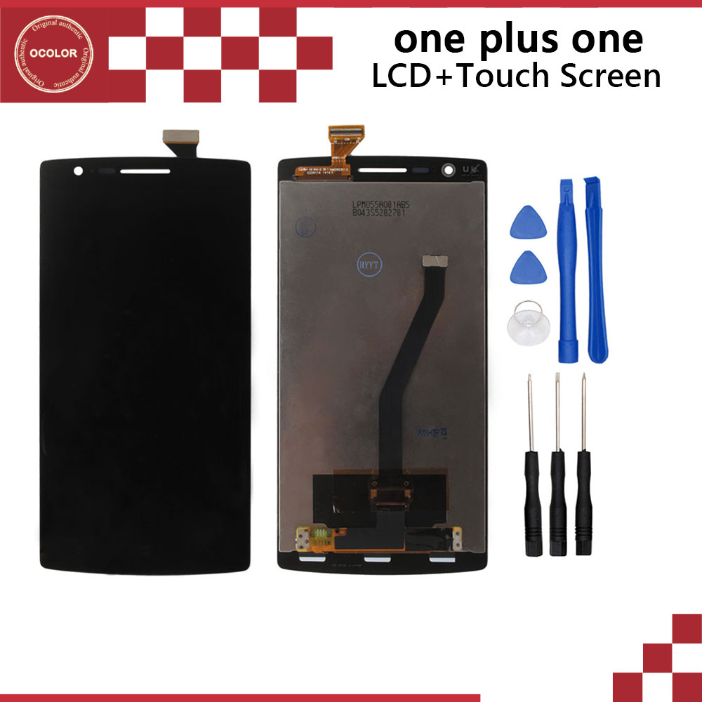 Oneplus one Original LCD Display Touch Screen Frame Assembly Repair Part One plus +Tools  -  Shenzhen Gldron Technology Co., Ltd store