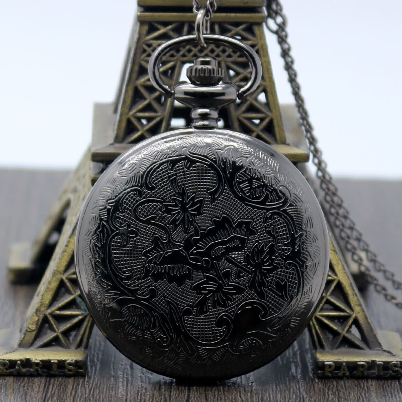 2016 New Black Case Doctor Who Fob Watch Cool High Quality Pocket Watch For Men Women