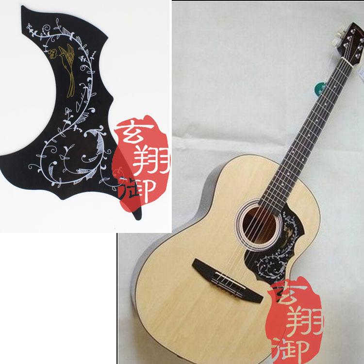 "2PCS/LOT New Hummingbird Acoustic Guitar Celluloid Pickguard Scratch Plate Pick Guard Sticker for 38""-41"" Guitarra Free Shipping(China (Mainland))"
