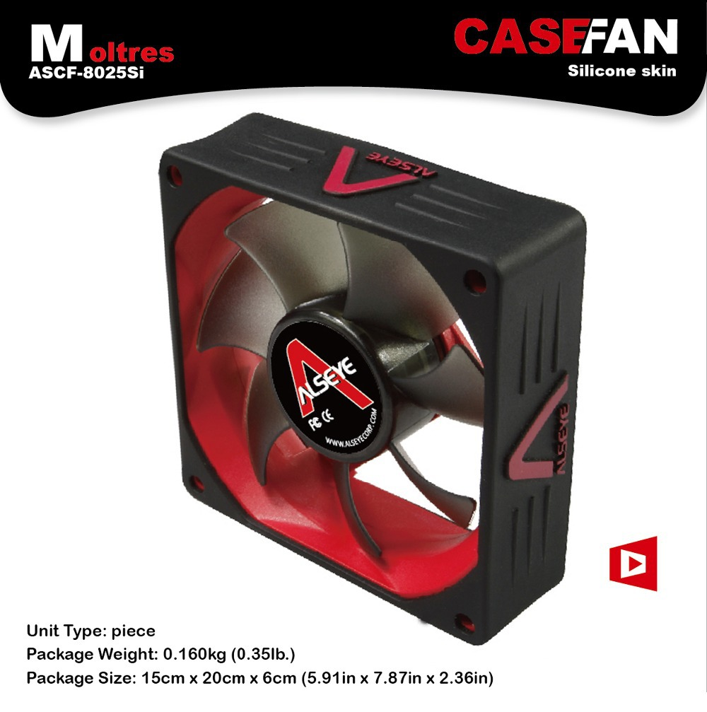 PC case fan 8cm silicone skin gaming CPU cooler 2000RPFM 3pin cooling fan computer chassis fan DC thermal system fan 8025(China (Mainland))
