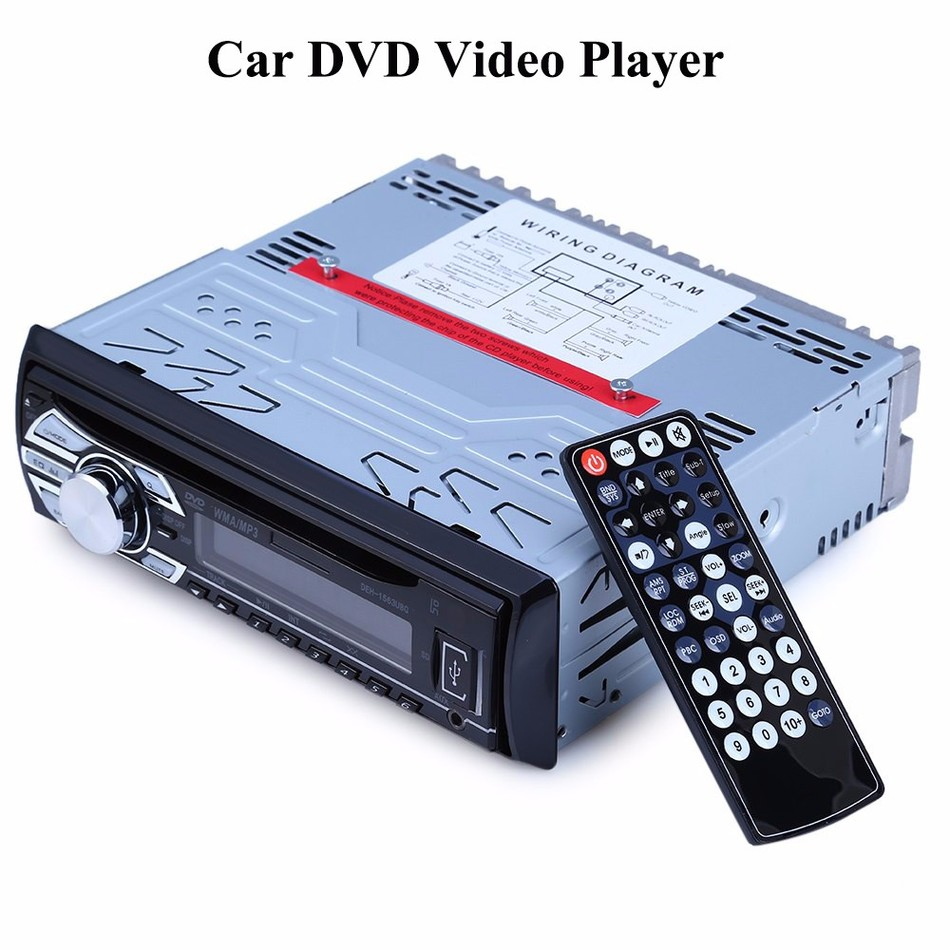 1563U 12V Car Audio Stereo Support USB SD Mp3 Player AUX DVD VCD CD Player with Breakpoint Memory Playing with Remote Control(China (Mainland))