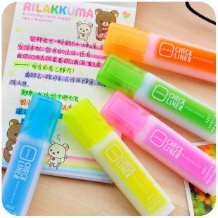 Korea stationery candy color fresh big capacity neon pen doodle