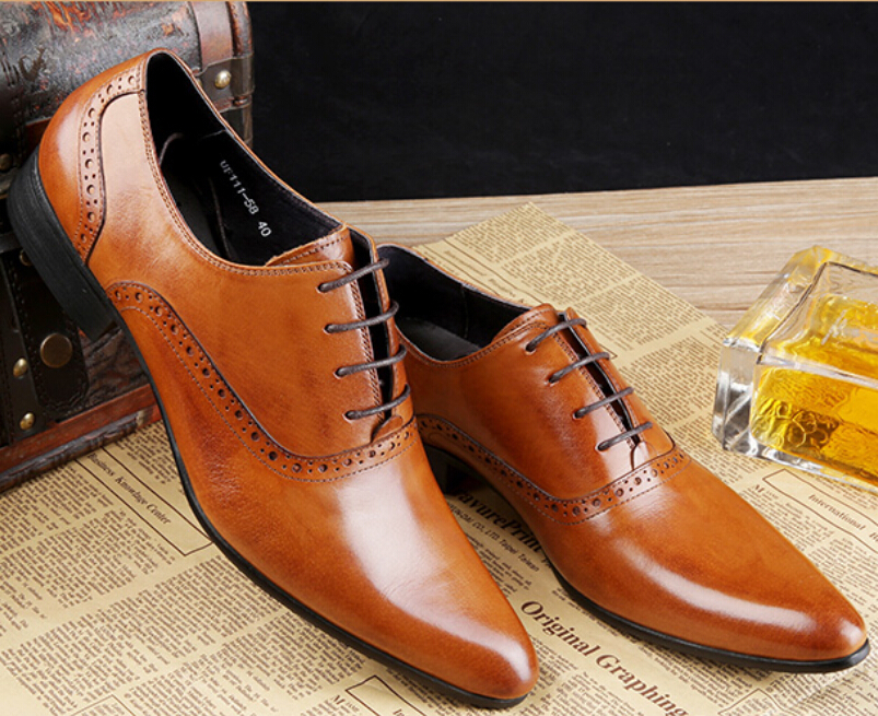fashion black mens wedding shoes mens dress shoes flats genuine leather mens work shoes Bridegroom<br><br>Aliexpress