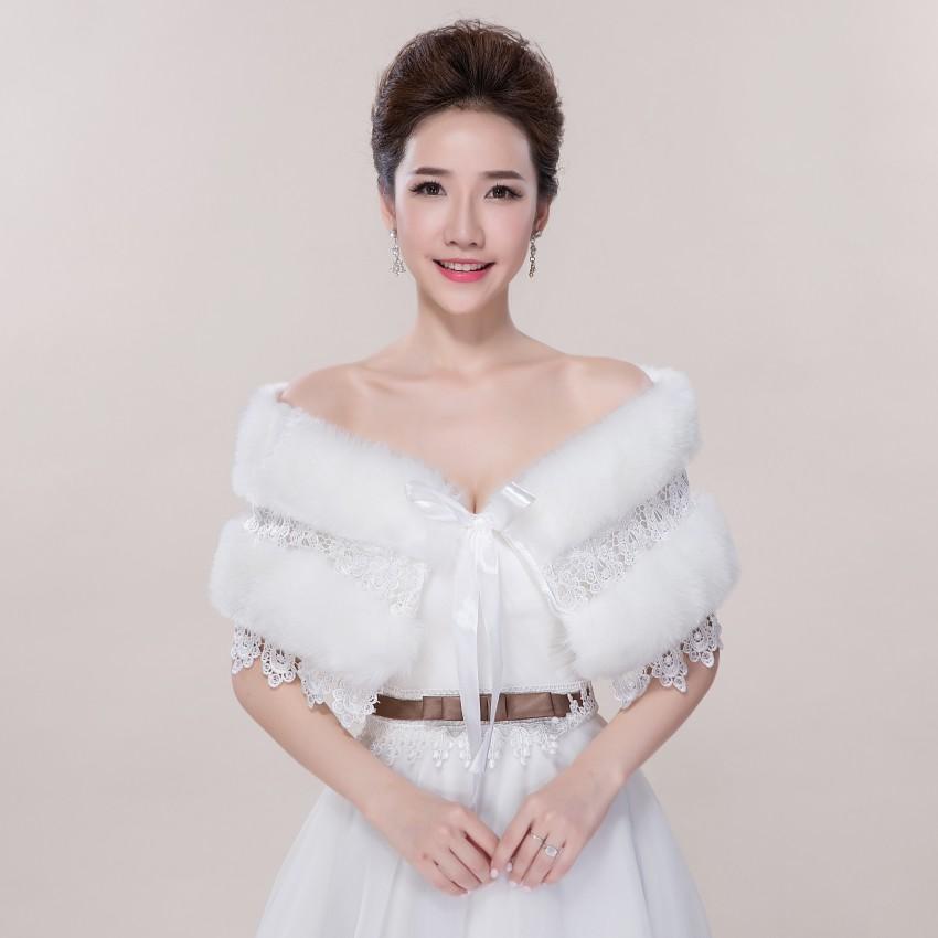 2016 elegant bride gown wedding shawl warm winter shawl for Winter shawls for wedding dresses