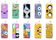 adventure time white hard cases for IPHONE 5 5s + free shipping