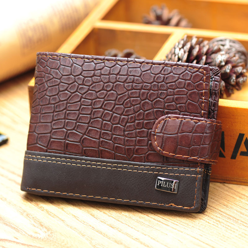 Special promotion!10 styles 2015 new men wallets & fine bifold brown brand Retro style Genuine leather with pu wallet for men(China (Mainland))