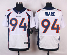 Denver Broncos Peyton Manning,Von Miller,DeMarcus Ware,Demaryius Thomas,Derek Wolfe,Paxton Lynch with the 50th SB patch(China (Mainland))