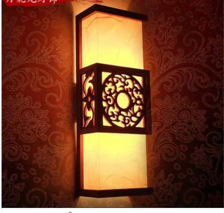Chinese style bed-lighting wall lamp antique sheepskin lighting carved luminaire(China (Mainland))