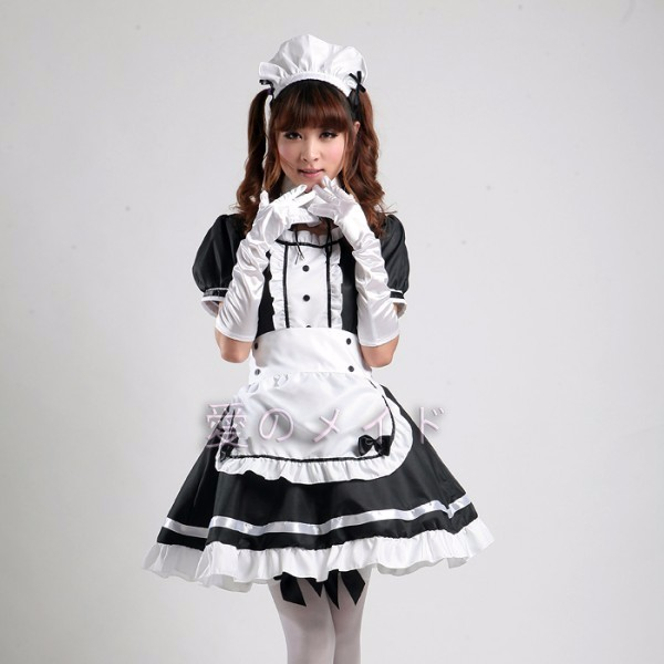 New 2016 Servant Women Cosplay Black Party Halloween Lolita Fancy Dress Adult Women Sissy Maid Uniform Sexy French Maid Costumes