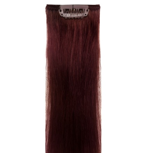 Deep Red Clip In Hair Extensions 90