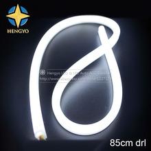 2Pcs/Lot 85cm 15W Flexible Headlight White+Yellow Daytime Lamp Switchback Strip Angel Eye DRL Decorative Light With Turn Signal(China (Mainland))