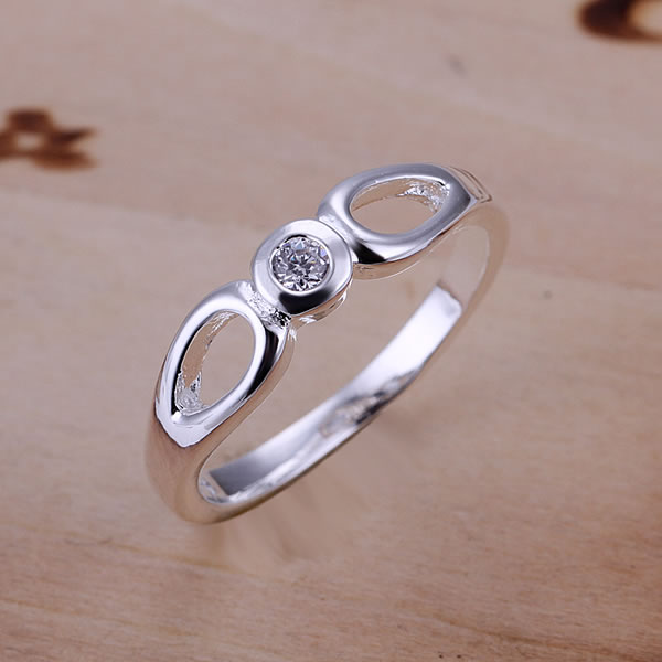 R104 925 silver ring, fashion jewelry, Central Inlaid Ring - fengqin gong's store
