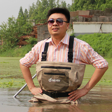 Breathable high quality fishing wading pants, rafting wear chest waders with neoprene socks(China (Mainland))