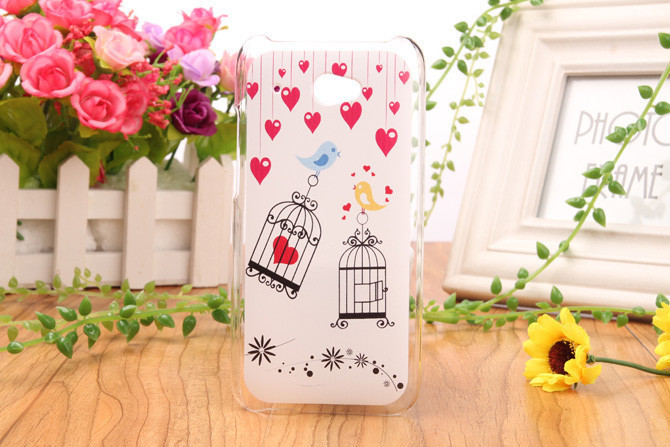 10 piece/lot High Quality Cartoon Design Crystal Plastic Protection Back Cover Skin Hard housing shell Case For HTC Desire 601(China (Mainland))