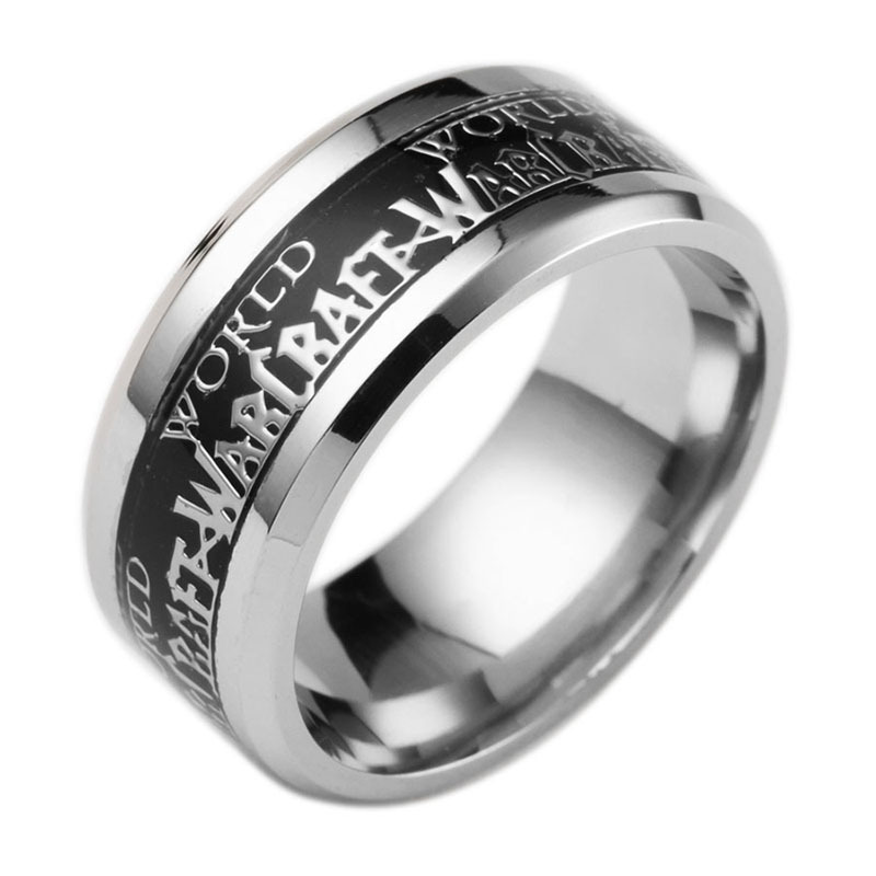 2016 New World of Warcraft World of Warcraft Movie Game Wholesale Stainless Steel Rings(China (Mainland))