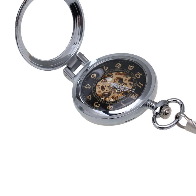 relogios mascu Vintage Antique Sliver Watch Roman Numerals Men Mechanical Pocket Watch Pattern Pendant With Chain